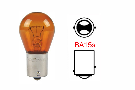 Ampoule Orange 12V, 1 fil 21W BA15s