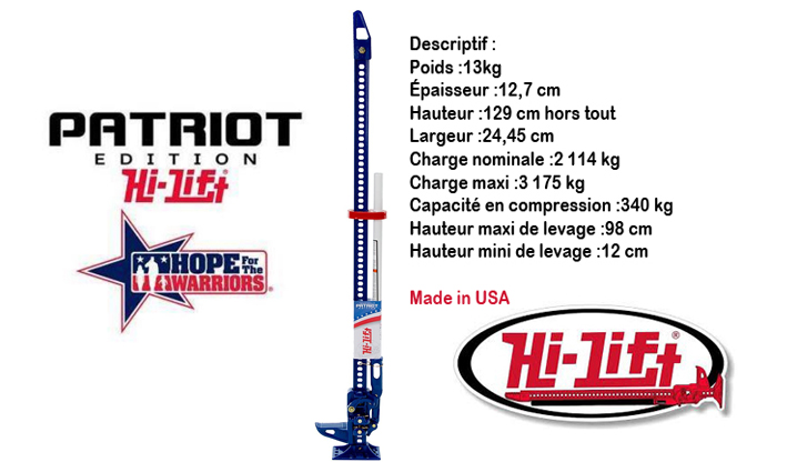 Cric Hi-Lift® Patriot edition