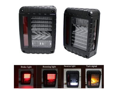 Led-Kit feux arriere, fleches, Jeep JK