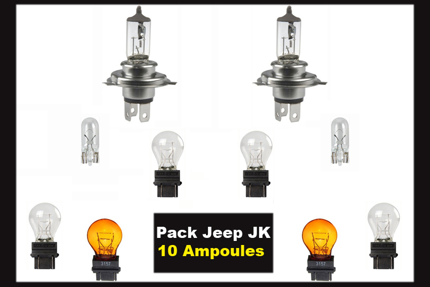 10 ampoules Pack, Jeep JK