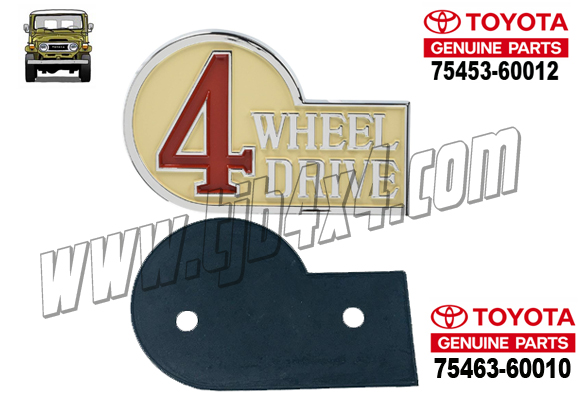 "6-2 Sigle ""4WD"" angle arriere Gauche avec joint, By Totota®"