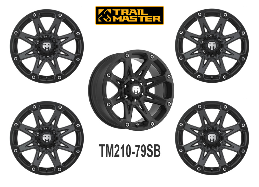 Lot de 5 Jantes aluminium 17X9 (5X127), Jeep JK by Trailmaster®