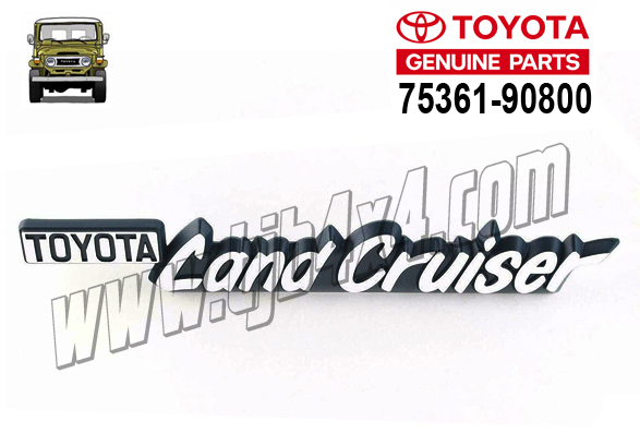 "Sigle de joue d'aile ""Toyota Land Cruiser"", By Toyota"