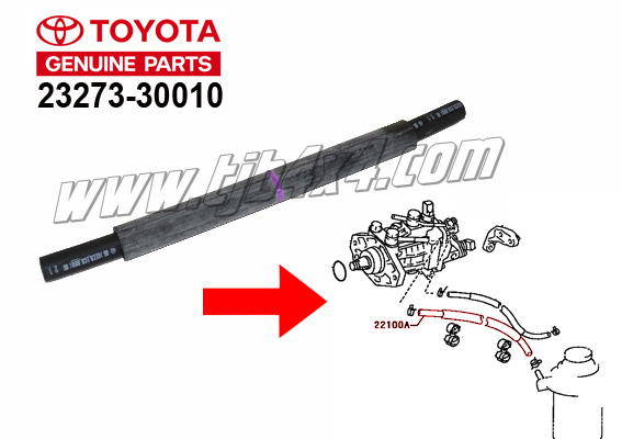 Durite carburant pour common rail,by Toyota®