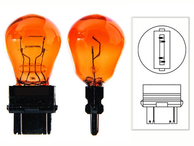 Ampoule 12V Stop/Veilleuse, P27/7W, ambrée/Orange