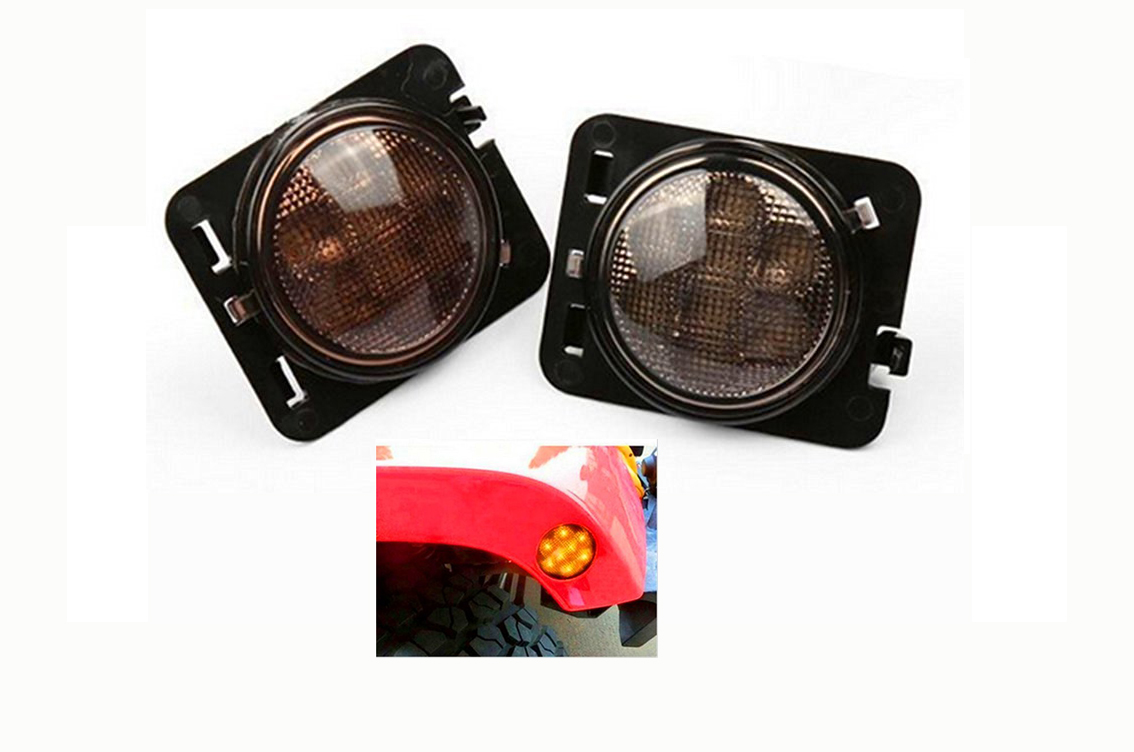 Led-repetiteurs ambré d'aile, Jeep JK